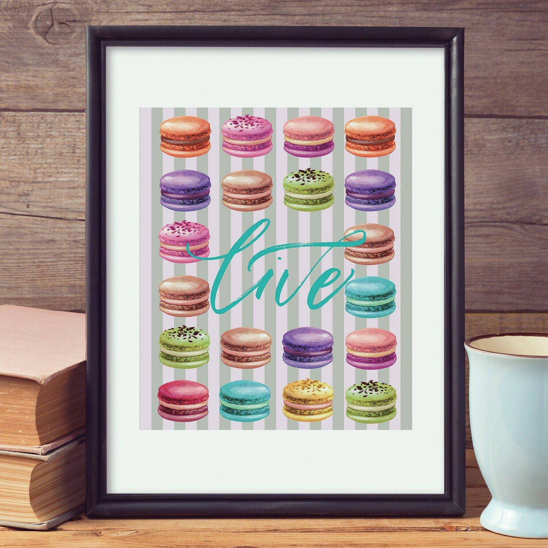 Ebern Designs Tryphosa Macaroon Desserts Wall Decal Wayfair