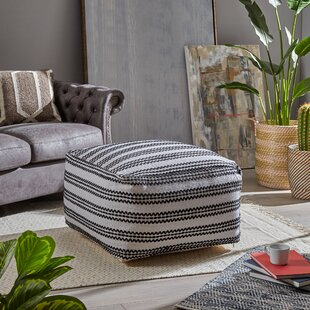 Keanu Pouf Ottoman by Wrought Studio