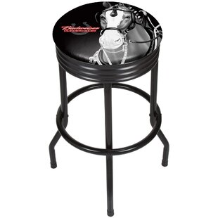Budweiser Clydesdale Ribbed 28.5 Swivel Bar Stool