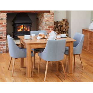 Courts Dining Set With 4 Chairs By Rosalind Wheeler
