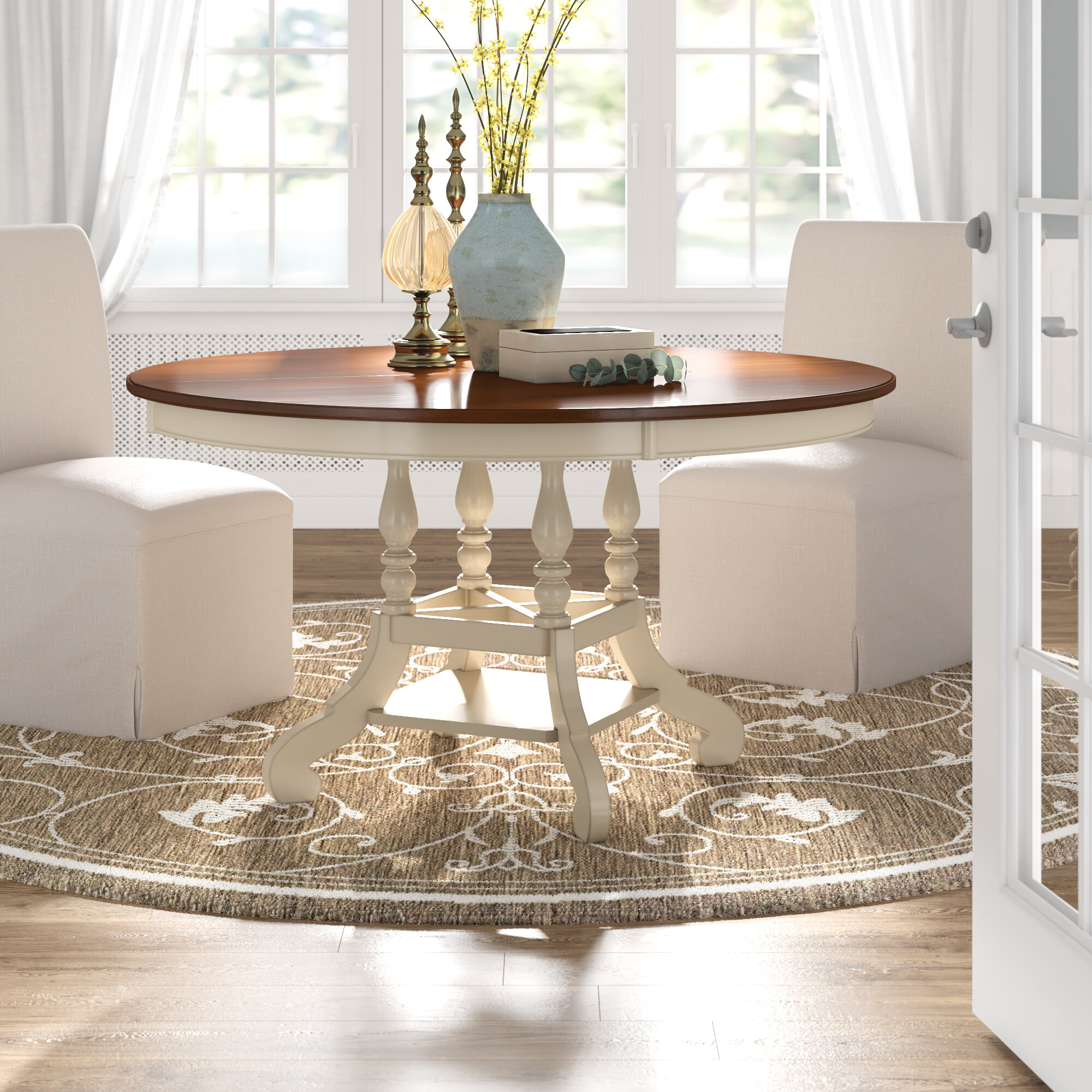 Laurel Foundry Modern Farmhouse Irizarry Extendable Pine Solid Wood Dining Table Reviews Wayfair