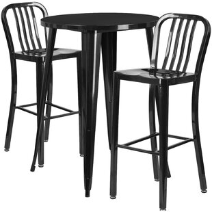 Avera 3 Piece Bar Height Dining Set