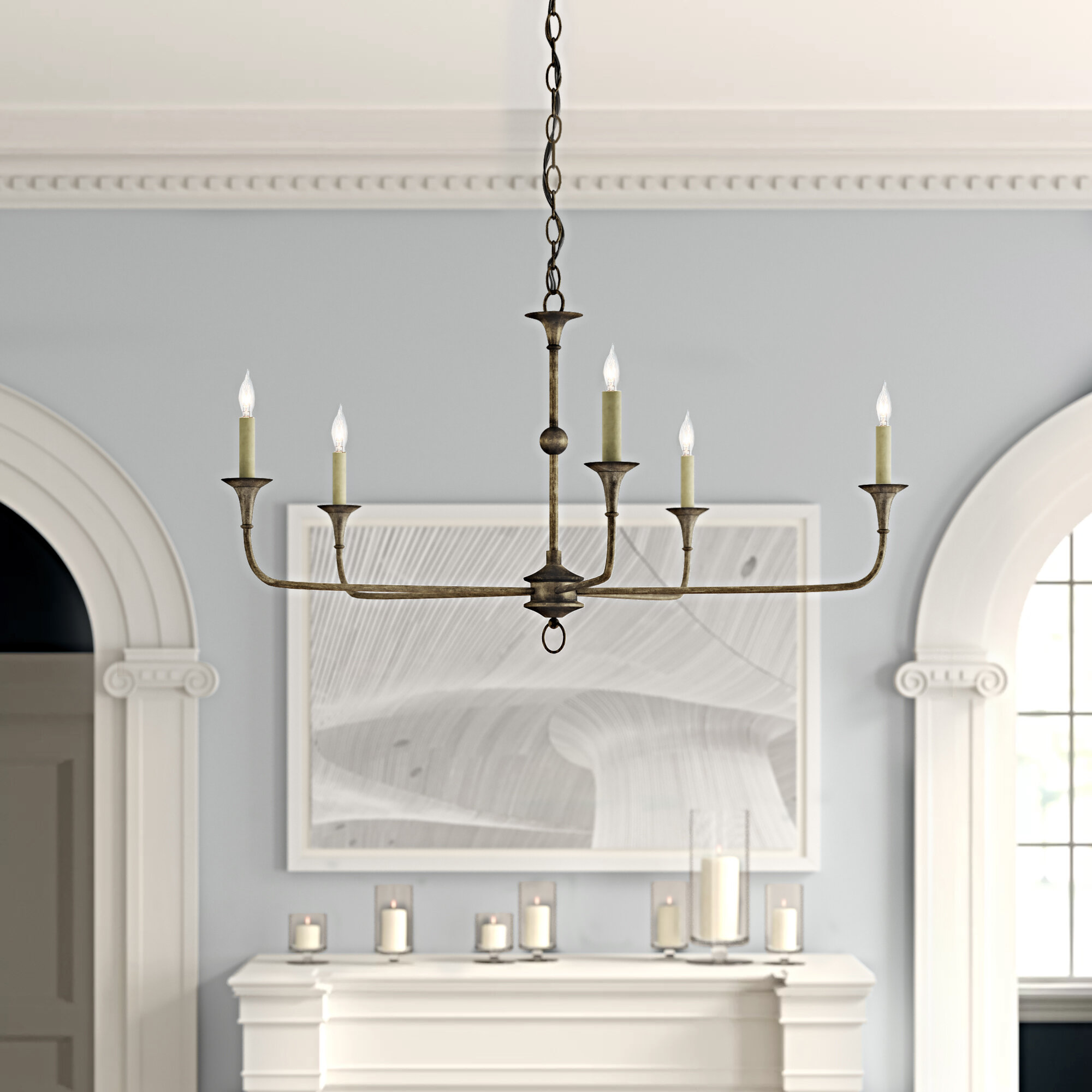 Currey Company Nottaway 5 Light Candle Style Classic Traditional Chandelier Perigold