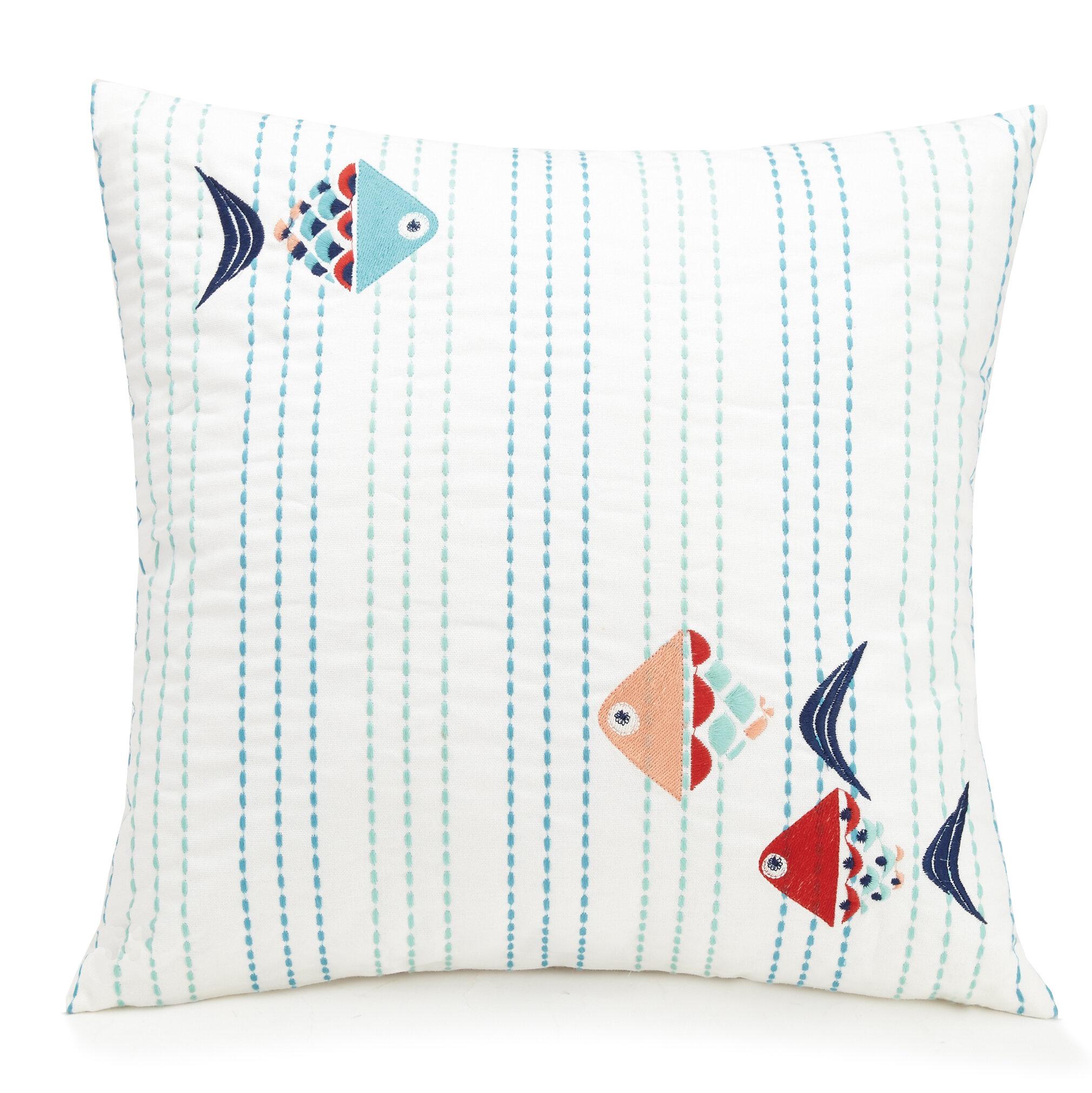 Vera Bradley Go Fish Cotton Throw Pillow Reviews Wayfair