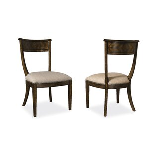 Drumlee Genuine Leather Upholstered Dining Chair by Astoria Grand