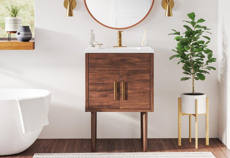 Matthews 24 Single Bathroom Vanity Set Reviews Allmodern