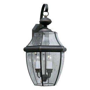 Charlton Home Garret 2-Light LED Outdoor Wall Lantern