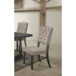 Gertrudes Upholstered Dining Chair (Set of 2) by One Allium Way