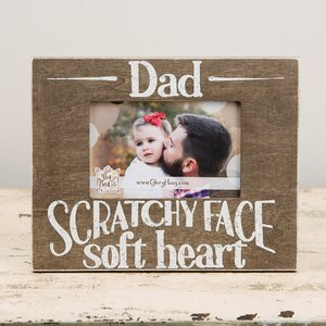 Dad Scratch Face Soft Hands Picture Frame
