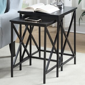 Abbottsmoor 2 Piece Nesting Tables by Andover Mills