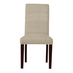 Latitude Run Beachwood Horizontal Stripes Parsons Chair (Set of 2)