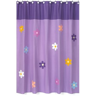 Danielle's Daisies Cotton Single Shower Curtain