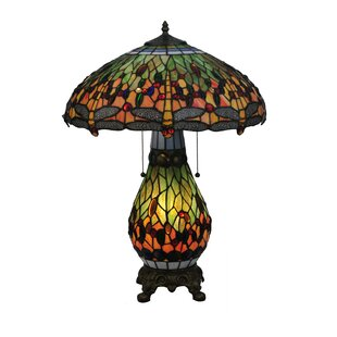 Reviews Tiffany Hanginghead Dragonfly 25.5 Table Lamp By Meyda Tiffany