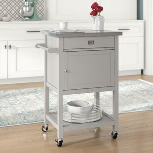 Eira Kitchen Cart with Stainless Steel Top Willa Arlo Interiors