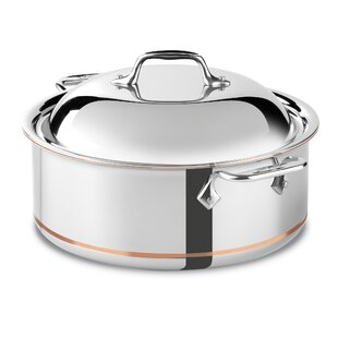 Copper Core 6-qt. Stainless Steel Round Roaster Braiser with Lid