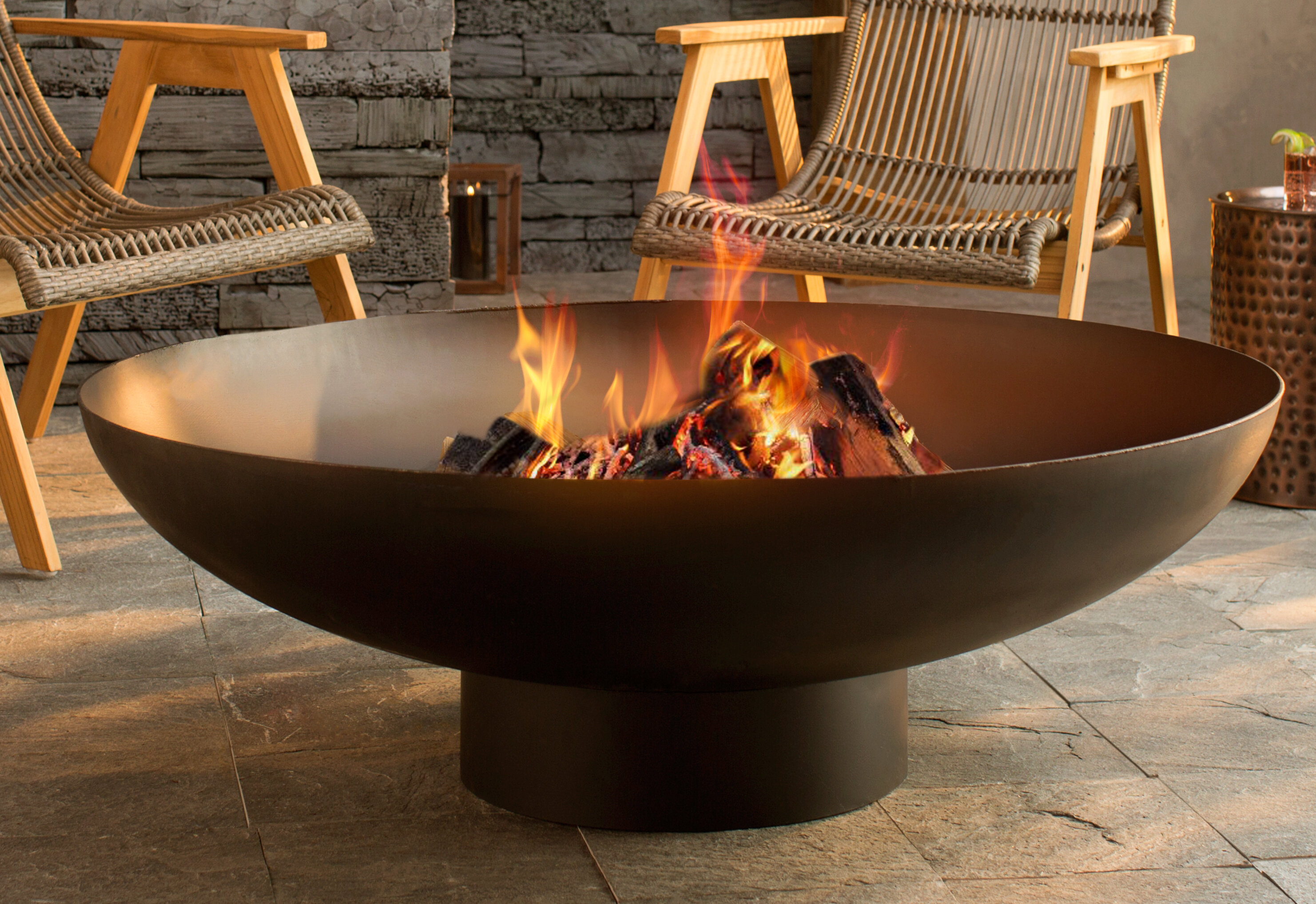 Bays Steel Wood Burning Fire Pit Reviews Joss Main