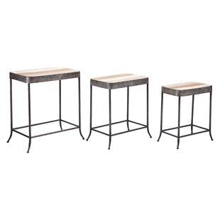 Gracie Oaks Amera 3 Piece Coffee Table Set