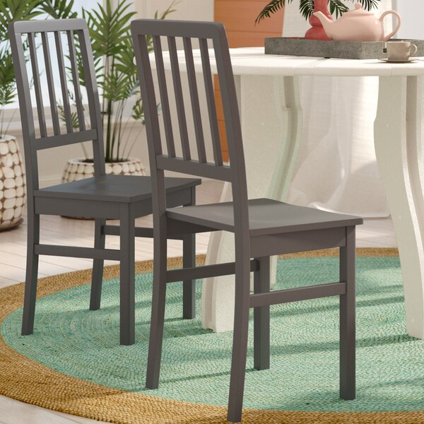 Beachcrest Home Glenville Solid Wood Dining Chair ...