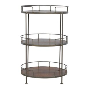 Crispin Industrial Round Butler Tray Table