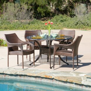 Dingman 5 Piece Outdoor Dining Set by Mer..