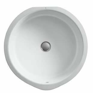 Shop for Verticyl Ceramic Circular Undermount Bathroom Sink with Overflow By Kohler
