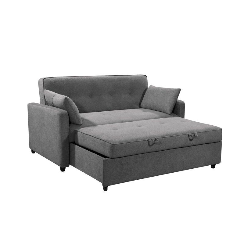Faye Queen Tufted Back Convertible Sofa