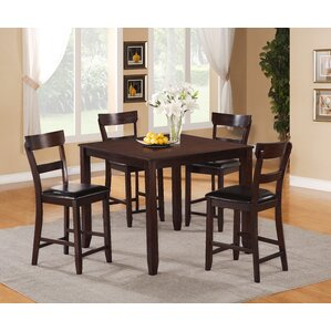 Henderson 5 Piece Counter Height Dining Set by C..