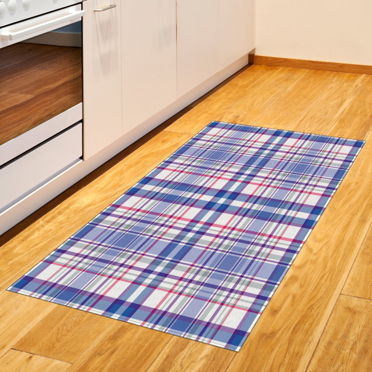 Ambesonne Checkered Area Rug