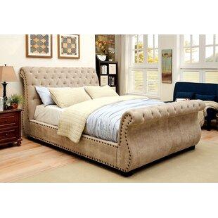 Gayla Tufted Upholstered Sleigh Platform Bed