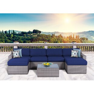 Campa Olefin 7 Piece Conversation Set with Cushions
