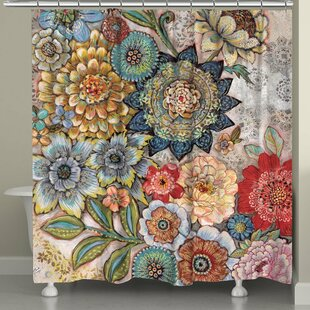 Aidan Boho Bouquet Shower Curtain