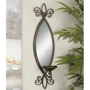 Amansara Metal Mirror Candle Sconce