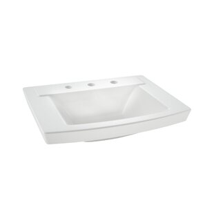 Read Reviews Townsend 16 Pedestal Bathroom Sink with Overflow By American Standard