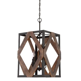 Gracie Oaks Bita 4-Light Rectangle Pendant