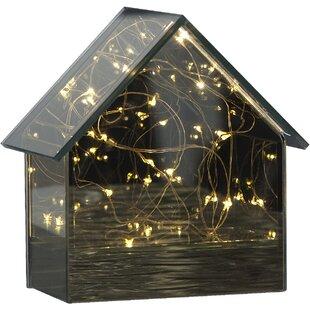 Free S&H 15-Light Black Mirror House Lamp