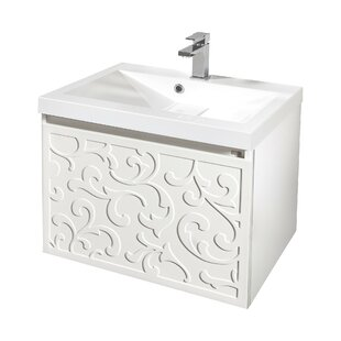 Chong 610mm Wall Hung Single Vanity Unit By Fleur De Lis Living