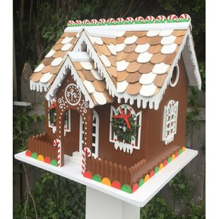 Home Bazaar Candy Cottage 10 in x 10 in x 10 in Birdhouse