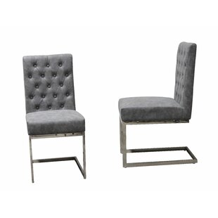 Williston Forge Cambell Tufted Modern Upholstered Dining Chair (Set of 2)