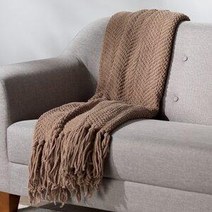 Nader Tweed Knitted Throw Blanket
