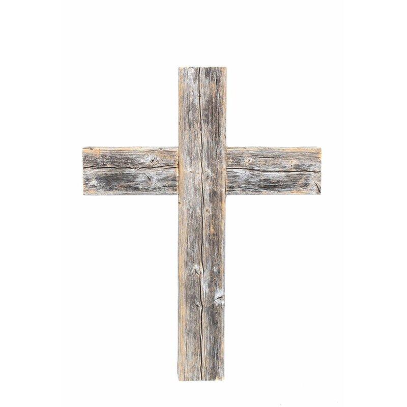 Barnwoodusa Old Wooden Cross Wall Décor
