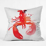 Penarth Lobster Outdoor Throw Pillow