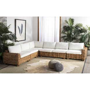 Harp 5 Piece Patio Sectional with Cushions