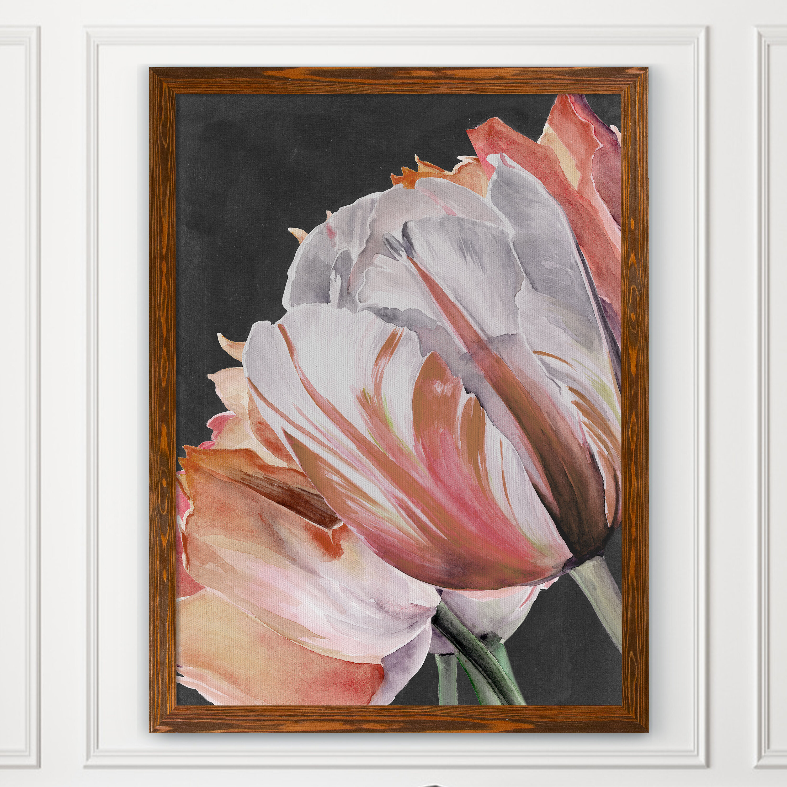 House Of Hampton Pastel Parrot Tulips Iii By Paul Cezanne Picture Frame Painting Print Wayfair