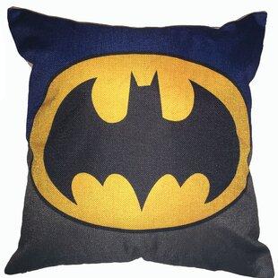 Yellow /& Black Decorative Toddler Pillow Blue Warner Bros Batman