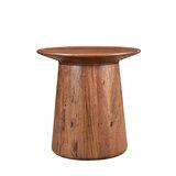 Sammie Solid Wood Pedestal End Table by Loon Peak®