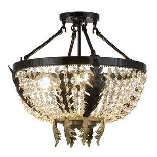 Meyda Tiffany Chrisanne Crystal 3-Light Semi-Flush Mount