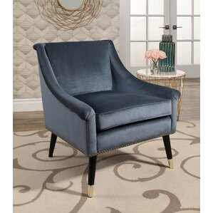 Woodford Velvet Swoop Arm Chair by Mercer41