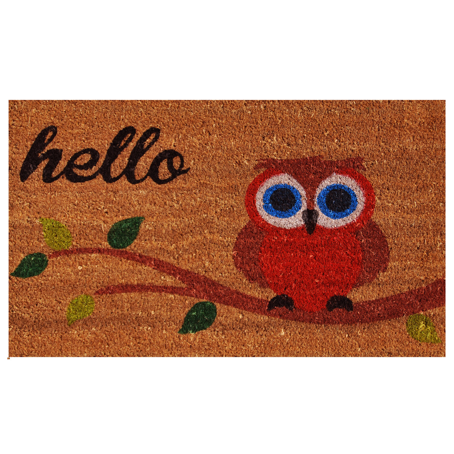 Home U0026 More Owl Hello Doormat U0026 Reviews | Wayfair