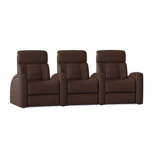 Latitude Run Diamond Stitch Home Theater Row Curved Seating (Row of 3)