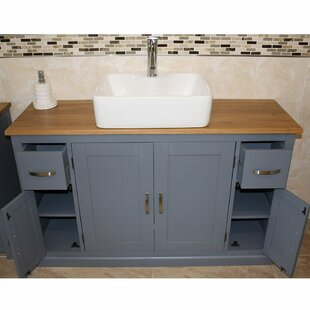 Solid Beech Andalucia 1230mm Free-standing Single Vanity By August Grove